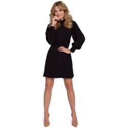 Textil Ženy Krátké šaty Makover K077 Šaty s flamencovým volánem - černé