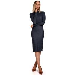 Textil Ženy Krátké šaty Moe M544 Maxi šaty s rozparkem na nohou - cihlově červené