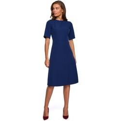 Textil Ženy Krátké šaty Style S240 Zavinovací šaty - pudrové