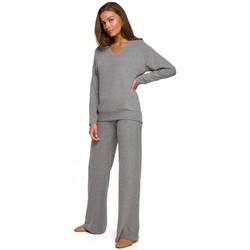 Textil Ženy Turecké kalhoty / Harémky Style S249 Pletené kalhoty s širokými nohavicemi Lounge - šedé
