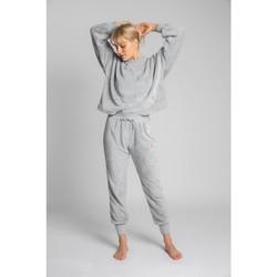 Textil Ženy Teplákové kalhoty Lalupa LA004 Fluffy Knit Joggers - světle šedé