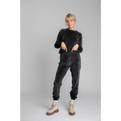 Textil Ženy Teplákové kalhoty Lalupa LA012 Sametové tepláky - grafitové