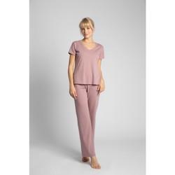 Textil Ženy Halenky / Blůzy Lalupa LA014 Bavlněný top s výstřihem do V - heather
