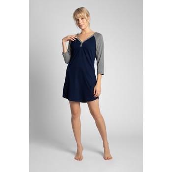 Textil Ženy Pyžamo / Noční košile Lalupa LA018 Bavlněné barevné tričko na spaní - ecru barva