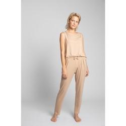 Textil Ženy Pyžamo / Noční košile Lalupa LA025 Viskózové pyžamové kalhoty - cappuccino