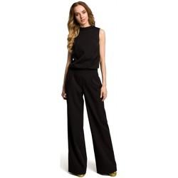 Textil Ženy Overaly / Kalhoty s laclem Moe M382 Kombinéza s dělenými zády - černá