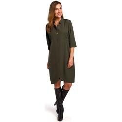 Textil Ženy Krátké šaty Style S189 Blejzrové šaty - khaki barva