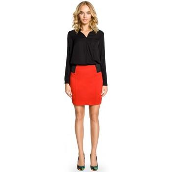 Textil Ženy Sukně Moe M042 Jednoduchá minisukně s gumou v pase - červená