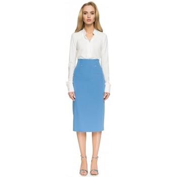 Textil Ženy Sukně Style S065 Tužková midi sukně - modrá