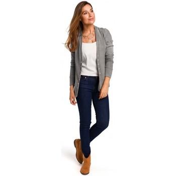 Textil Ženy Halenky / Blůzy Style S198 Kardigan s patentkami - šedý