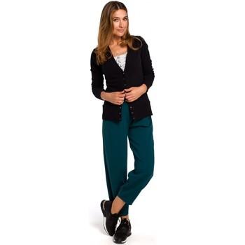 Textil Ženy Svetry / Svetry se zapínáním Style S198 Kardigan s patentkami - černý