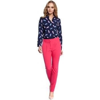 Textil Ženy Turecké kalhoty / Harémky Moe M303 Kalhoty s rovnými nohavicemi - růžové