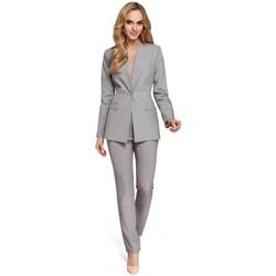 Textil Ženy Obleková saka Moe M304 Bunda s jedním knoflíkem - šedá