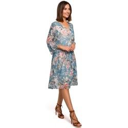 Textil Ženy Krátké šaty Style S214 Šifonové šaty se spadlým pasem - model 4