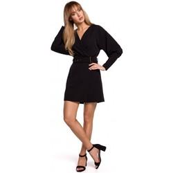 Textil Ženy Krátké šaty Moe M501 Mini šaty s puff rukávy - černé