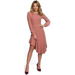 Textil Ženy Společenské šaty Makover K077 Šaty s flamencovým volánem - růžové