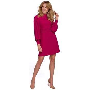 Textil Ženy Krátké šaty Makover K077 Šaty s flamencovým volánem - švestka