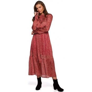 Textil Ženy Společenské šaty Style S238 Sukienka midi szyfonowa w groszki - model 3