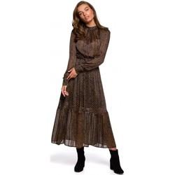 Textil Ženy Společenské šaty Style S239 Tužkové šaty s páskem na zavázání - černé