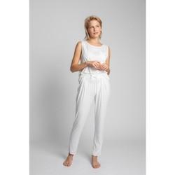 Textil Ženy Pyžamo / Noční košile Lalupa LA025 Viskózové pyžamové kalhoty - ecru barva
