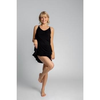 Textil Ženy Pyžamo / Noční košile Lalupa LA031 Viskózová košilka - černá