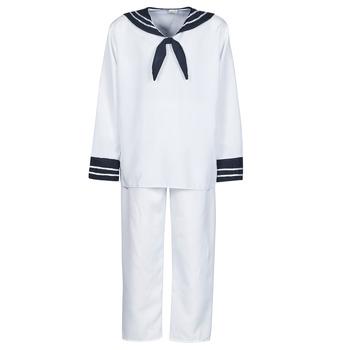 Textil Muži Převleky Fun Costumes COSTUME ADULTE MARIN BLANC Bílá