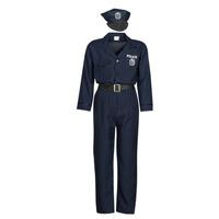 Textil Muži Převleky Fun Costumes COSTUME ADULTE OFFICIER DE POLICE Modrá