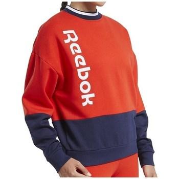 Textil Ženy Mikiny Reebok Sport TE Linear Logo Crew Červené, Tmavomodré