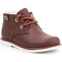 Boty Děti Kotníkové boty Lacoste Sherbrook HI SB SPC 7-30SPC201177T brown