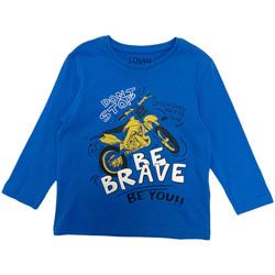 Textil Chlapecké Trička s dlouhými rukávy Losan 025-1201AL Modrý