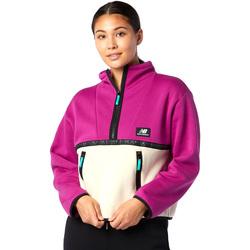 Textil Ženy Fleecové bundy New Balance NBWT03529JJL Růžový
