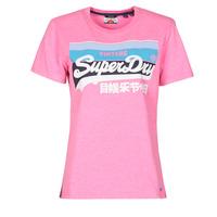 Textil Ženy Trička s krátkým rukávem Superdry VL CALI TEE 181 Růžová