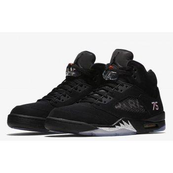 Boty Kotníkové tenisky Nike Air Jordan 5 x PSG Black Black/White-Challenge Red