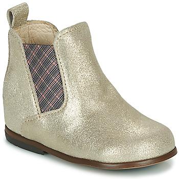 Boty Dívčí Kotníkové boty Little Mary ARON Stříbrná