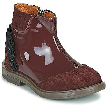 Boty Dívčí Kotníkové boty Little Mary ELSIE Červená