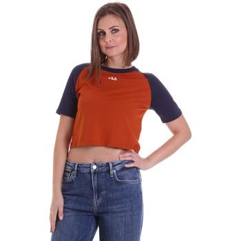 Textil Ženy Trička s krátkým rukávem Fila 687919 Oranžový