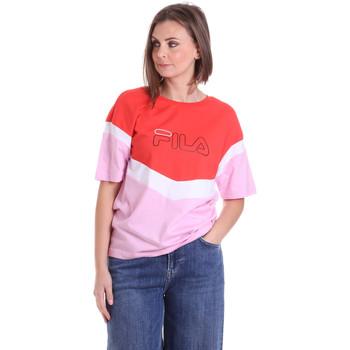 Textil Ženy Trička s krátkým rukávem Fila 683162 Červené