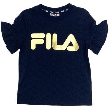 Textil Dívčí Trička s krátkým rukávem Fila 688038 Modrý