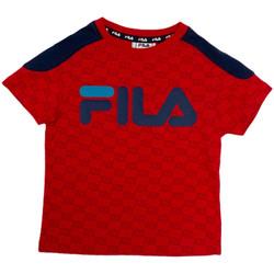 Textil Děti Trička s krátkým rukávem Fila 688077 Červené