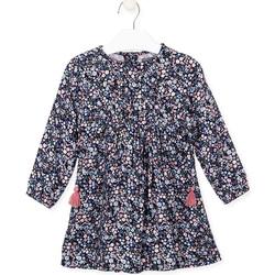 Textil Dívčí Šaty Losan 026-7021AL Modrý
