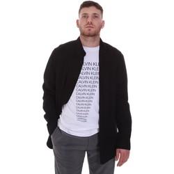 Textil Muži Košile s dlouhymi rukávy Calvin Klein Jeans K10K105993 Černá