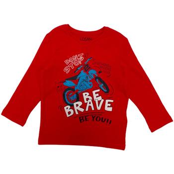Textil Děti Trička s dlouhými rukávy Losan 025-1201AL Červené