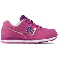 Boty Děti Nízké tenisky New Balance NBGC574MTP Růžový