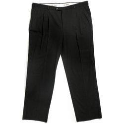 Textil Muži Kalhoty Arno Escola černé pánské kalhoty se sámkem Černá