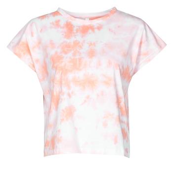 Textil Ženy Trička s krátkým rukávem Yurban ONILA Bílá / Růžová