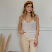Textil Ženy Tílka / Trička bez rukávů  Céleste INSEPARABLE Krémově bílá