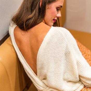 Textil Ženy Svetry Céleste COMETE Krémově bílá
