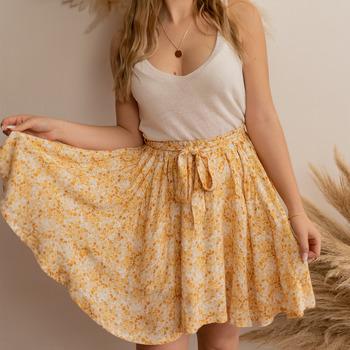 Textil Ženy Sukně Céleste EGLANTINE Žlutá / Bílá