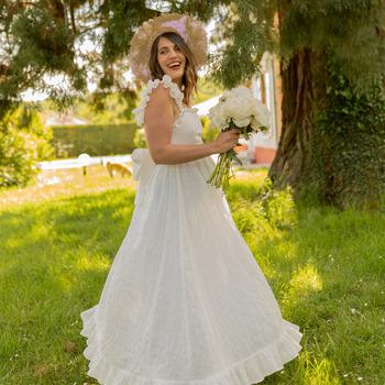 Textil Ženy Společenské šaty Céleste AURORE Bílá