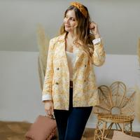 Textil Ženy Saka / Blejzry Céleste ALIZE Žlutá / Bílá